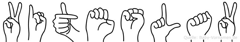 Viteslav im Fingeralphabet der Deutschen Gebärdensprache