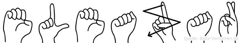 Eleazar im Fingeralphabet der Deutschen Gebärdensprache