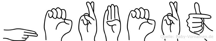 Herbert in Fingersprache für Gehörlose