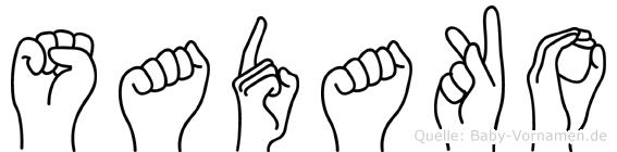 Sadako in Fingersprache für Gehörlose
