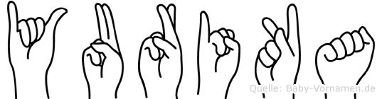 Yurika im Fingeralphabet der Deutschen Gebärdensprache