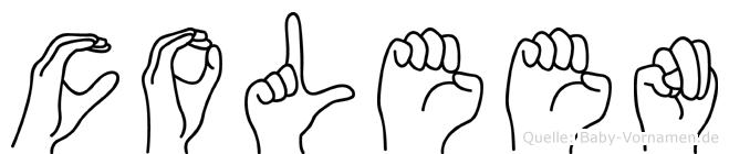 Coleen im Fingeralphabet der Deutschen Gebärdensprache