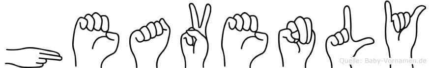 Heavenly im Fingeralphabet der Deutschen Gebärdensprache