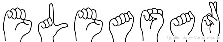 Eleasar im Fingeralphabet der Deutschen Gebärdensprache