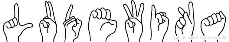 Ludewika im Fingeralphabet der Deutschen Gebärdensprache