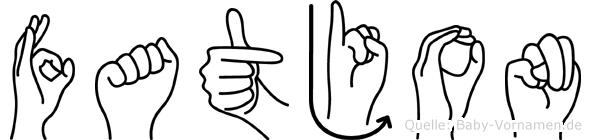 Fatjon in Fingersprache für Gehörlose