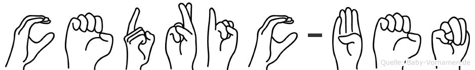 Cedric-Ben im Fingeralphabet der Deutschen Gebärdensprache