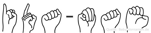 Ida-Mae im Fingeralphabet der Deutschen Gebärdensprache