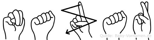 Nazar im Fingeralphabet der Deutschen Gebärdensprache