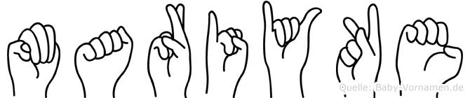 Mariyke im Fingeralphabet der Deutschen Gebärdensprache