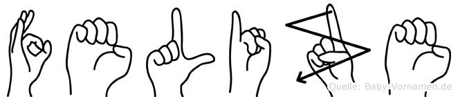 Felize in Fingersprache für Gehörlose