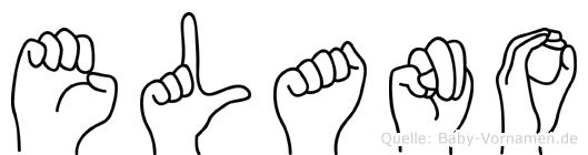Elano im Fingeralphabet der Deutschen Gebärdensprache