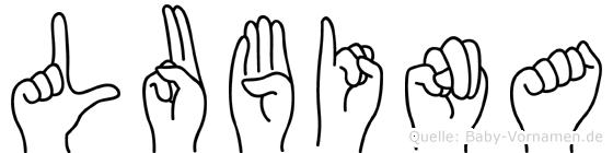 Lubina in Fingersprache für Gehörlose