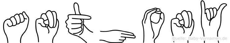 Anthony in Fingersprache für Gehörlose