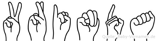 Vrinda in Fingersprache für Gehörlose