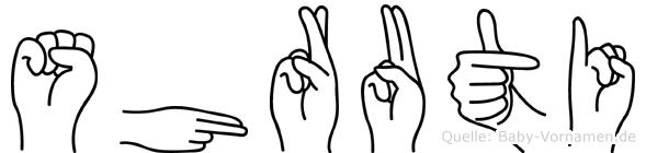 Shruti im Fingeralphabet der Deutschen Gebärdensprache