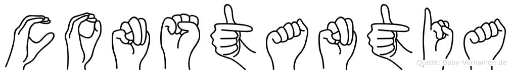 Constantia in Fingersprache für Gehörlose