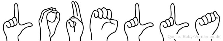Louella in Fingersprache für Gehörlose