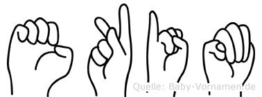 Ekim in Fingersprache für Gehörlose