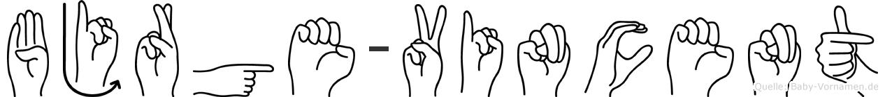 Björge-Vincent im Fingeralphabet der Deutschen Gebärdensprache