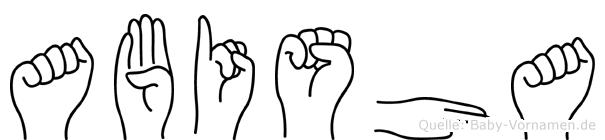 Abisha in Fingersprache für Gehörlose