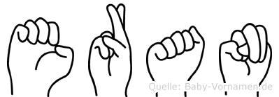 Eran im Fingeralphabet der Deutschen Gebärdensprache