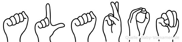 Alaron im Fingeralphabet der Deutschen Gebärdensprache