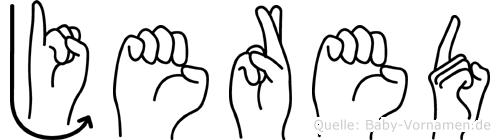 Jered in Fingersprache für Gehörlose