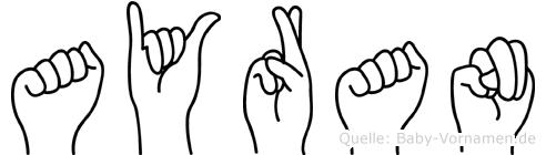 Ayran in Fingersprache für Gehörlose