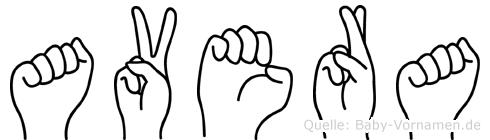Avera in Fingersprache für Gehörlose