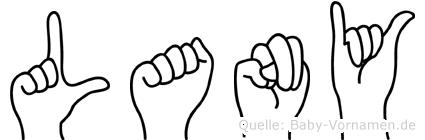 Lany im Fingeralphabet der Deutschen Gebärdensprache