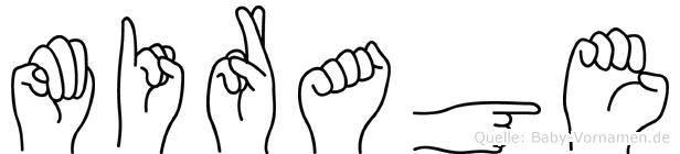 Mirage in Fingersprache für Gehörlose