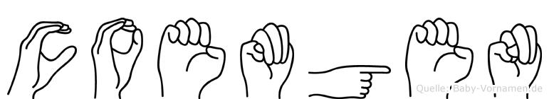 Coemgen im Fingeralphabet der Deutschen Gebärdensprache