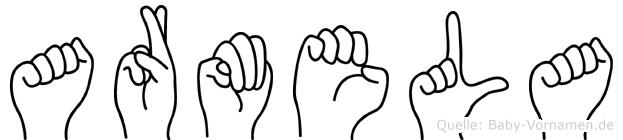 Armela in Fingersprache für Gehörlose
