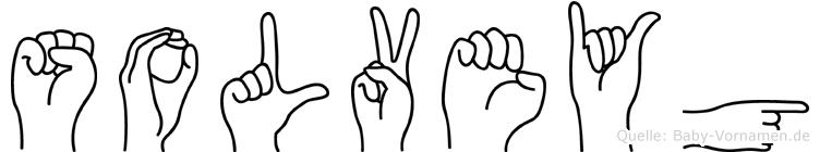 Solveyg im Fingeralphabet der Deutschen Gebärdensprache