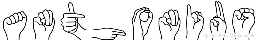 Anthonius in Fingersprache für Gehörlose