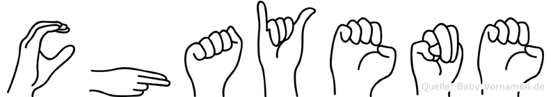 Chayene im Fingeralphabet der Deutschen Gebärdensprache