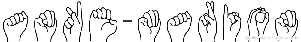 Anke-Marion im Fingeralphabet der Deutschen Gebärdensprache