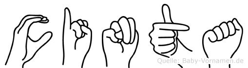 Cinta in Fingersprache für Gehörlose