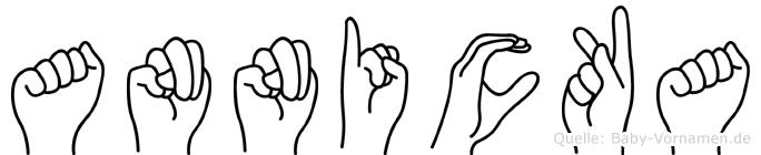 Annicka im Fingeralphabet der Deutschen Gebärdensprache