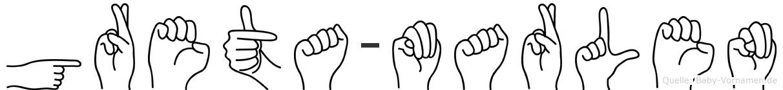 Greta-Marlen im Fingeralphabet der Deutschen Gebärdensprache