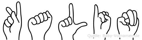 Kalin in Fingersprache für Gehörlose