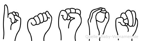 Iason in Fingersprache für Gehörlose