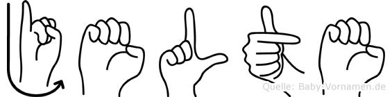 Jelte im Fingeralphabet der Deutschen Gebärdensprache