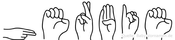 Herbie in Fingersprache für Gehörlose