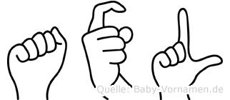 Axl in Fingersprache für Gehörlose