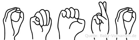 Omero im Fingeralphabet der Deutschen Gebärdensprache