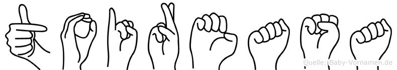 Toireasa im Fingeralphabet der Deutschen Gebärdensprache
