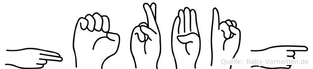 Herbig in Fingersprache für Gehörlose