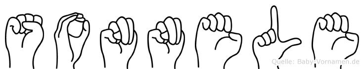 Sonnele in Fingersprache für Gehörlose